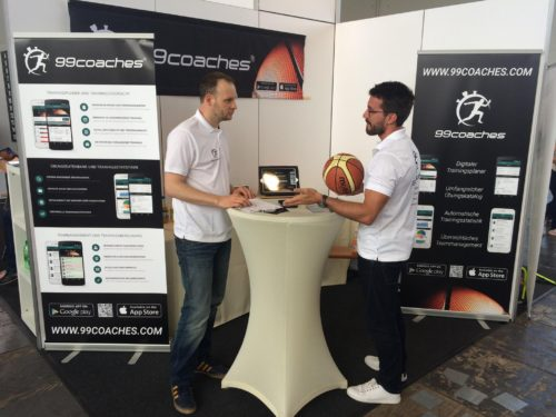 99coaches Stand bei der B'BALL EXPO